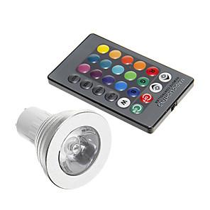 ieftine Spoturi LED-1 buc 3 W Spoturi LED 250-300 lm GU10 1 LED-uri de margele Decorativ RGB 85-265 V