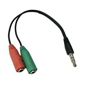 ieftine Audio & Video-3,5 mm stereo poziția 4 fișă de 3,5 mm pentru microfon& mufă pentru căști pentru adaptor iphone audio