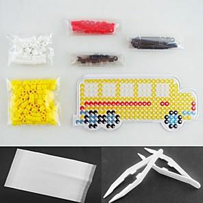 ieftine alte DIY-galben autobuz 5mm kit margele Perler siguranțe Margele HAMA DIY (margele de culoare adecvate stabilit + 1 + 1 pegboard călcat hârtie + 1 Penseta)