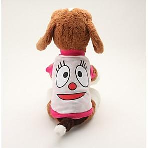 povoljno Odjeća za psa i dodaci-Pas T-majica Crtani film Ležerno / za svaki dan Odjeća za psa Prozračnost Plava Pink Kostim Pamuk XS S M L