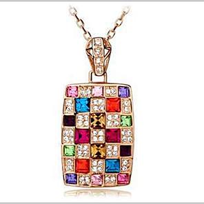 ieftine Colier la Modă-Pentru femei Cristal Coliere cu Pandativ Curcubeu femei Cristal Austriac Aliaj Culoare ecran Coliere Bijuterii Pentru