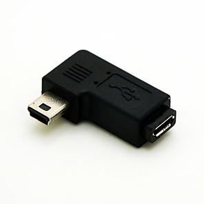 ieftine USB-uri-stânga în unghi de 90 de grade mini USB de sex masculin la micro USB feminin adaptor extensie cablu de conventer transport gratuit conector cablu