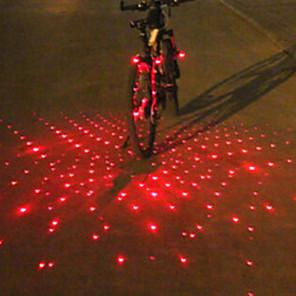 ieftine Genți Bicicletă-Laser LED Lumini de Bicicletă lumini de capăt de bar Iluminat Bicicletă Spate lumini de securitate Ciclism montan Bicicletă Ciclism Alarmă Lumină LED multi-instrument Atenţie Baterie Ciclism / IPX-4