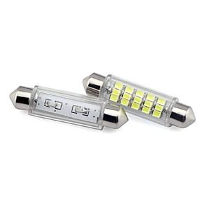 ieftine Becuri De Mașină LED-44mm 15x3020 smd 1.5W condus Festoon mașină lumina 12V DC (2 bucati)