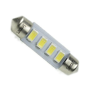 ieftine Becuri De Mașină LED-Festoon Mașină Alb 2W SMD 5730 6000-6500 Lumini de citit