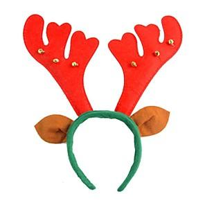 ieftine Pălărie-1buc Crăciun furnizează textile coarne de cerb de Crăciun, cu bandă de susținere cu clopote și urechi