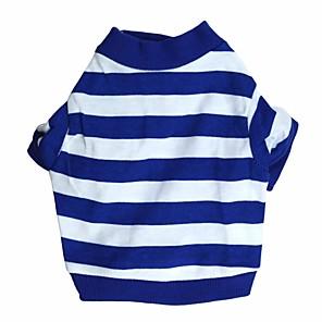 economico Custodie / cover per Galaxy serie S-Gatto Cane T-shirt Abbigliamento per cani Traspirante Blu Costume Cotone Strisce XS S M L