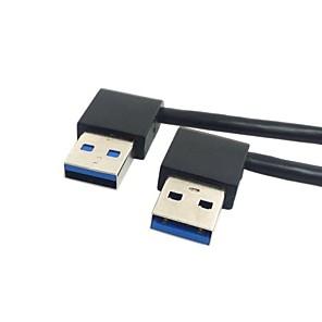 ieftine USB-uri-USB 3.0 tip un bărbat de 90 de grade la stânga la dreapta în unghi cablu de extensie cot de conectare drept 0.5m 1.5ft