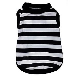 ieftine Gadget Baie-Pisici Câine Tricou Îmbrăcăminte Câini Negru / Alb Costume Terilenă Dungi Inimă XS S M L