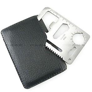 ieftine Imbracaminte & Accesorii Căței-Card de credit de supraviețuire Tool Teak Exterior Argintiu