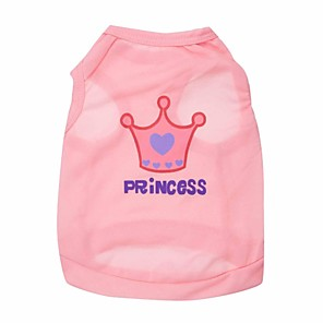 ieftine Imbracaminte & Accesorii Căței-Pisici Câine Tricou Îmbrăcăminte Câini Roz Trandafiriu Costume Terilenă Tiare & Coroane XS S M L