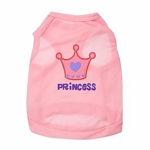 voordelige Hondenkleding & -accessoires-Kat Hond T-shirt Hondenkleding Roze Roos Kostuum Textiel Binnenwerk Tiara's & Kronen XS S M L