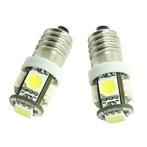 ieftine Lumini de Interior Mașină-2pcs E10 Mașină Becuri 1.2W SMD 5050 70-90lm 5 LED Lumini de interior For Παγκόσμιο