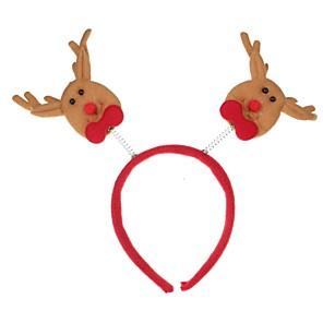 ieftine Pălărie-roșu& bej Crăciun decoratiuni cap cataramă