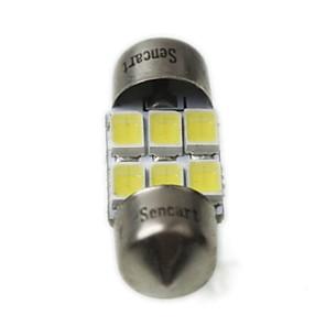 ieftine Becuri De Mașină LED-Festoon Mașină Alb Rece 3W SMD 5730 >8000 Lumină Uşă