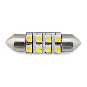 ieftine Becuri De Mașină LED-2 piese 36mm 8x3528 smd 1.3w 60lm autoturism auto festoon lumina pentru citirea plăcuței de înmatriculare lampă alb cald alb dc 12v