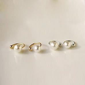ieftine Cercei-Pentru femei Perle Cercei cu Clip Cătușe pentru urechi femei Imitație de Perle cercei Bijuterii Auriu / Argintiu Pentru Zilnic