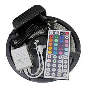 ieftine Gadget Baie-Benzi de 5m flexibile led / seturi de lumini / lumini de bandă led led 3528 smd 8mm telecomanda rgb / rc / cuttable / dimmable 100-240 v / linkable / autoadeziv / schimbătoare de culori / ip44
