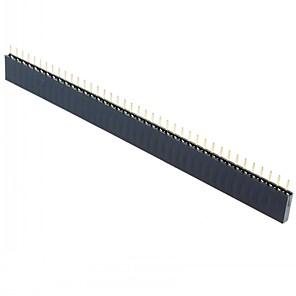 ieftine Conectoare & Terminale-Drept afara de sex feminin 1x40 40 pini singur rând 2,54 mm pas ac drept dată de sex feminin în afara (15pcs)