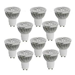 ieftine Spoturi LED-10pcs 4 W 350-400 lm GU10 Spoturi LED 4 LED-uri de margele LED Putere Mare Alb Cald / Alb Rece / Alb Natural 85-265 V / 10 bc / RoHs