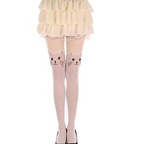ieftine Bijuterii Lolita-Prințesă Pentru femei Sweet Lolita Șosete / ciorapi Ciorapi strâmți, lungi Pisica Animal Catifea Lolita Accesorii / Înaltă Elasticitate