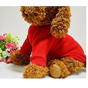 ieftine Îngrijire Unghii-Câine Tricou Hanorca Iarnă Îmbrăcăminte Câini Negru Rosu Albastru Costume Bumbac Mată stil minimalist XS S M L XL XXL