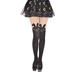 ieftine Bijuterii Lolita-Prințesă Pentru femei Sweet Lolita Șosete / ciorapi Ciorapi strâmți, lungi Animal Rabbit / bunny Catifea Lolita Accesorii / Înaltă Elasticitate
