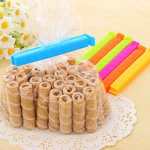 ieftine Cutii Depozitare Bucătărie-7pcs plastic dreptunghi Forma Clipuri Prospețime Seal (Random Color)