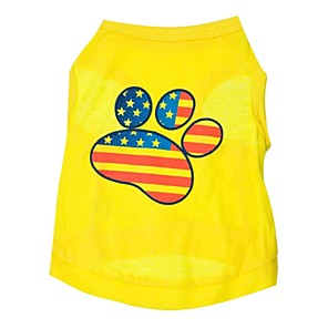 ieftine Îngrijire Unghii-Pisici Câine Tricou Îmbrăcăminte Câini Respirabil Galben Costume Bumbac American / USA XS S M L