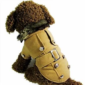 ieftine Imbracaminte & Accesorii Căței-Pisici Câine Haine Iarnă Îmbrăcăminte Câini Maro Galben Trandafiriu Costume Bumbac S M L XL