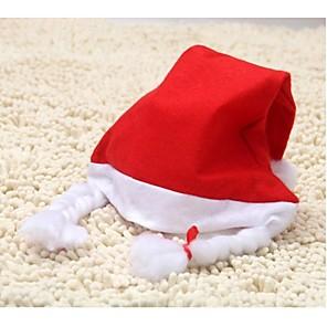 ieftine Pălărie-pălărie adult unisex cu impletituri pălării Moș Crăciun pălărie