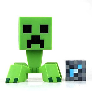 cheap Display Models-minecraft baby creeper jj monster vinyl figure garage kit