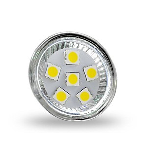 ieftine Spoturi LED-1 W Spoturi LED 350 lm GU4(MR11) MR11 6 LED-uri de margele SMD 5050 Decorativ Alb Rece 12 V / RoHs
