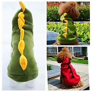 ieftine Îngrijire Unghii-Pisici Câine Costume Hanorace cu Glugă Ținute Iarnă Îmbrăcăminte Câini Verde Rosu Costume Lână polară Animal Cosplay Nuntă Halloween XS S M L XL