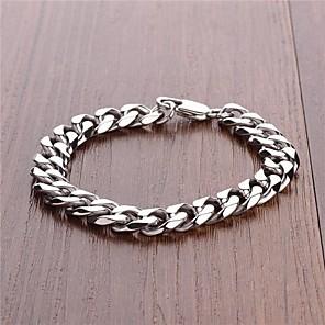 ieftine Brățări Bărbătești-moda brățară lanț de oțel simplu titan pentru bărbați