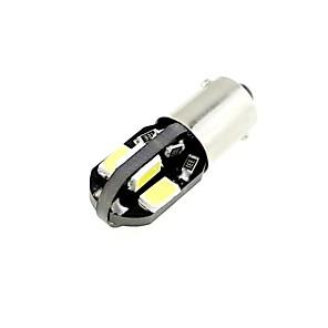 billige LED Bil Pærer-H6W Bax9S 1W 8X5730 Smd Led 80Lm 6000K Køligt Hvidt Lys Pære Til Bil (Dc 12V, 2Stk.)