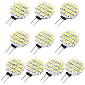 voordelige 2-pins LED-lampen-10 stuks 1.5 W 2-pins LED-lampen 118 lm G4 24 LED-kralen SMD 3528 Warm wit Koel wit 12 V / RoHs