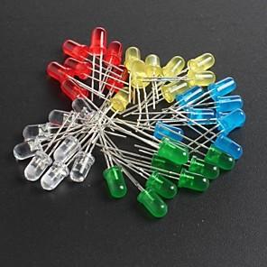 ieftine Diode-diode emițătoare de lumină roșie, verde, albastru și galben led5mm 10 fiecare, în total 50 buc
