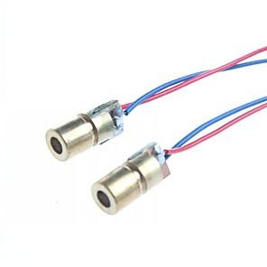 ieftine Componente DIY-6mm 5V 5mW punct cu laser modul diodă cap WL 650nm roșu (2 buc)