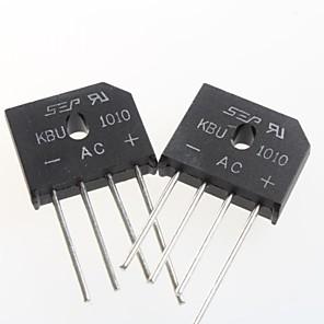 ieftine Conectori-kbu1010 plat punte redresoare punte 10A / 1000V (5pcs)