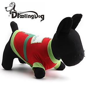 levne LED-Kočka Pes Trička Oblečení pro psy Černá Zelená Kostým Bavlna XS S M L