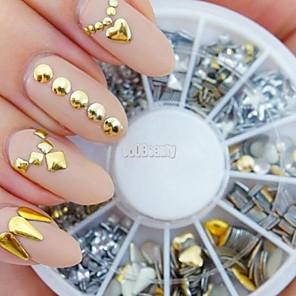 ieftine Peruci & Extensii de Păr-1 pcs Nail Art Kit Bijuterie unghii Ștrasuri nail art pedichiura si manichiura Zilnic Punk / Modă / Unghiul de bijuterii / MetalPistol
