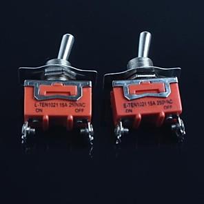 ieftine Întrerupătoare-comutator basculant (picioare doilea unelte) 15a 250VAC (2 buc)