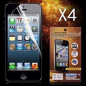 ieftine Protectoare Ecran de iPhone SE/5s/5c/5-Ecran protector pentru Apple iPhone 6s Plus / iPhone 6 Plus / iPhone SE / 5s 4 piese Ecran Protecție Față High Definition (HD)