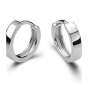 hesapli Küpeler-Vidali Küpeler Huggie Küpeleri Bayan Zarif Som Gümüş Gümüş Küpeler Mücevher Gümüş Uyumluluk Düğün Parti Günlük