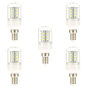 ieftine Becuri LED Glob-5pcs 3 W Becuri LED Corn 450 lm E14 24 LED-uri de margele SMD 5730 Alb Natural 220-240 V / 5 bc