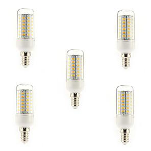 ieftine Becuri LED Glob-5pcs 5 W Becuri LED Corn 450 lm E14 G9 E26 / E27 T 56 LED-uri de margele SMD 5730 Alb Cald Alb Rece 220-240 V / 5 bc