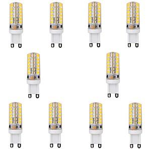 LED-kornpærer 450 lm G9 T 48 LED perler SMD 2835 Varm hvit / 10 stk.