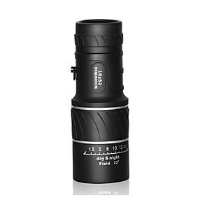 ราคาถูก กล้องส่องทางไกล-16 X 55 mm Monocular ความละเอียดสูง กล่องหิ้ว มุมมองกลางคืน ยาง