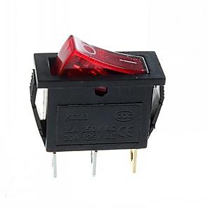 ieftine Întrerupătoare-2-trepte 3-pini plug-rocker cu lumină (15a / 20a 250V / 125V ac) - (5pcs)